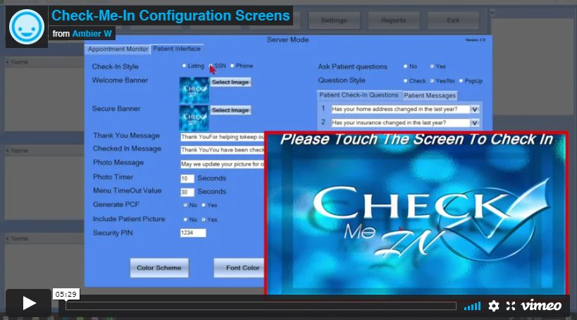 [VIDEO] Check-Me-In Configuration