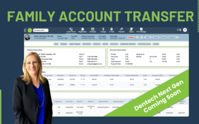 Dentech New Feature Highlight…Moving Patient Accounts Has Never Been Easier.